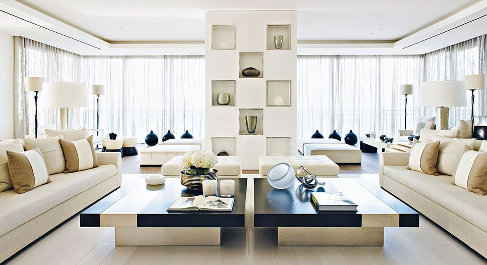 A Current Interior Design Trend Is For Oversize Coffee Tables   These 2 Are  Quite Fab From Kelly Hoppen!