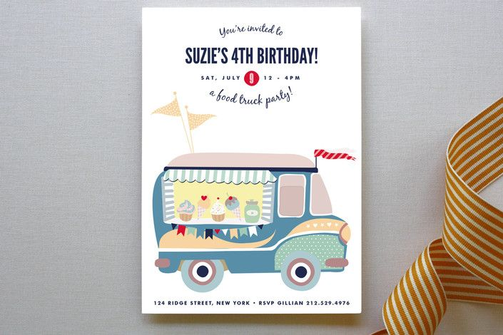 Food Truck Party Childrens Birthday Invitations By Phrosne Ras At Minted