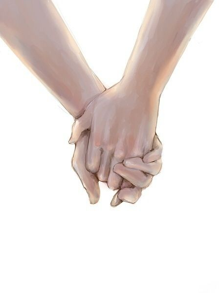 Drawing.. holding hands..