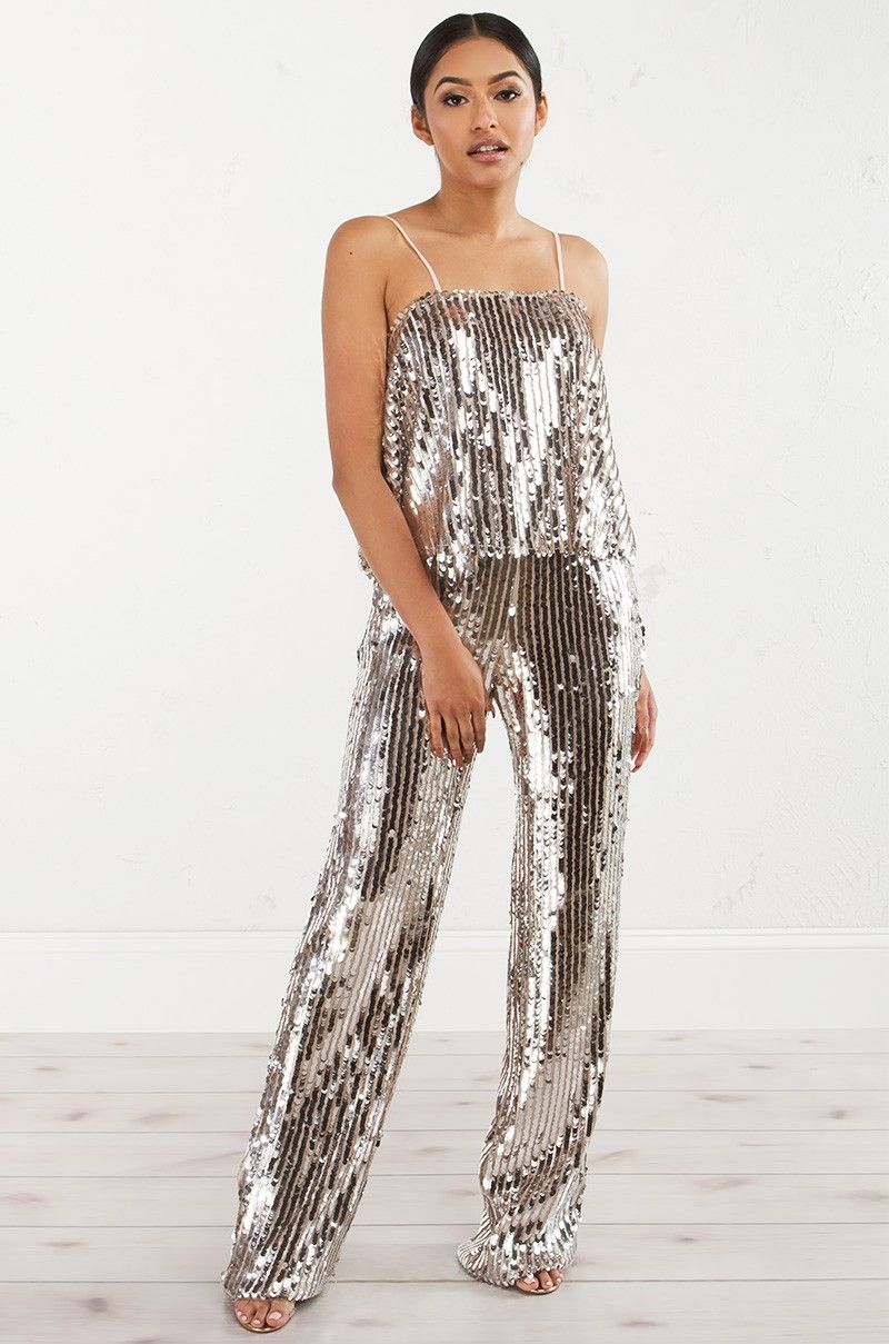 00e1fddbbfb4 GLITZ AND GLAM SEQUIN JUMPER - Rompers   Jumpsuits - CLOTHING