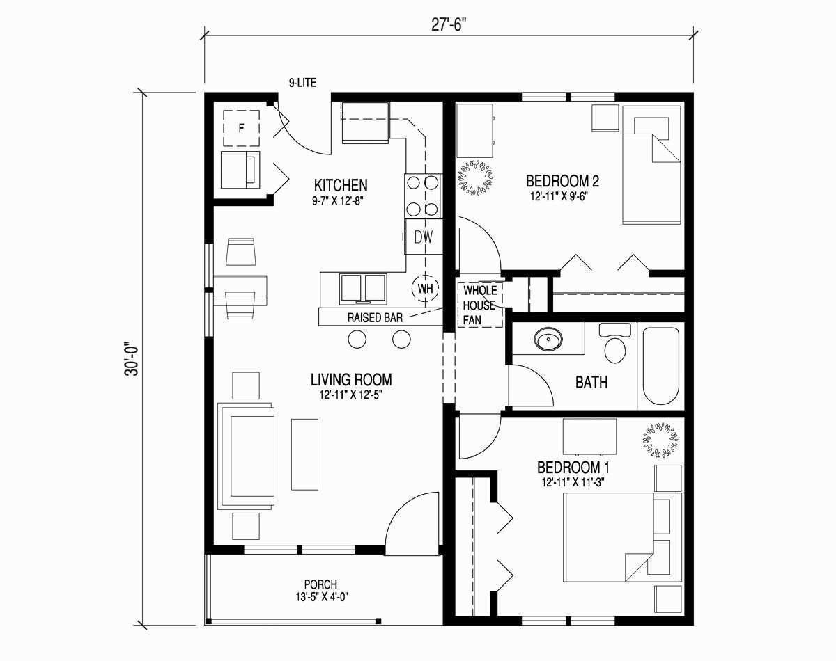 Lake Floor Plans Best 2 Story Lake View House Plans Luxury 1 Two Bedroom House Simple House Plans Floor Plan Design