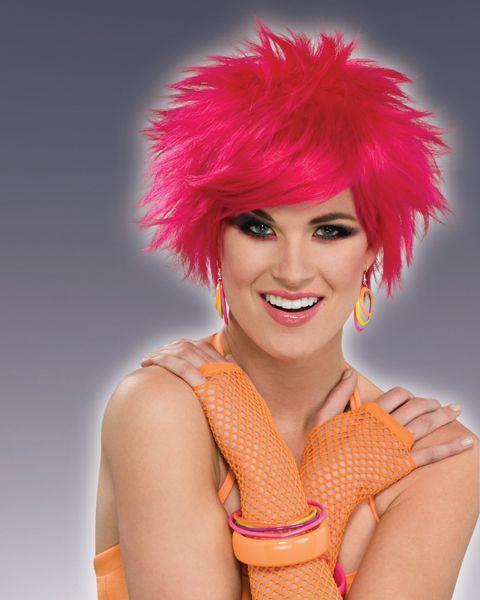 Short Hot Pink Pop Wig Adult Sexy Accessories Pinterest Hot - hot halloween ideas