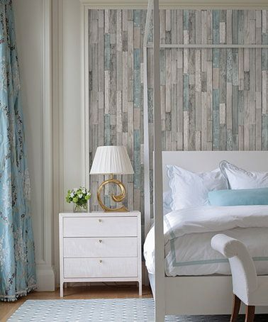 Best Another Great Find On Zulily Gray Barn Board Thin Plank Wallpaper Zulilyfinds Faux Wood 400 x 300