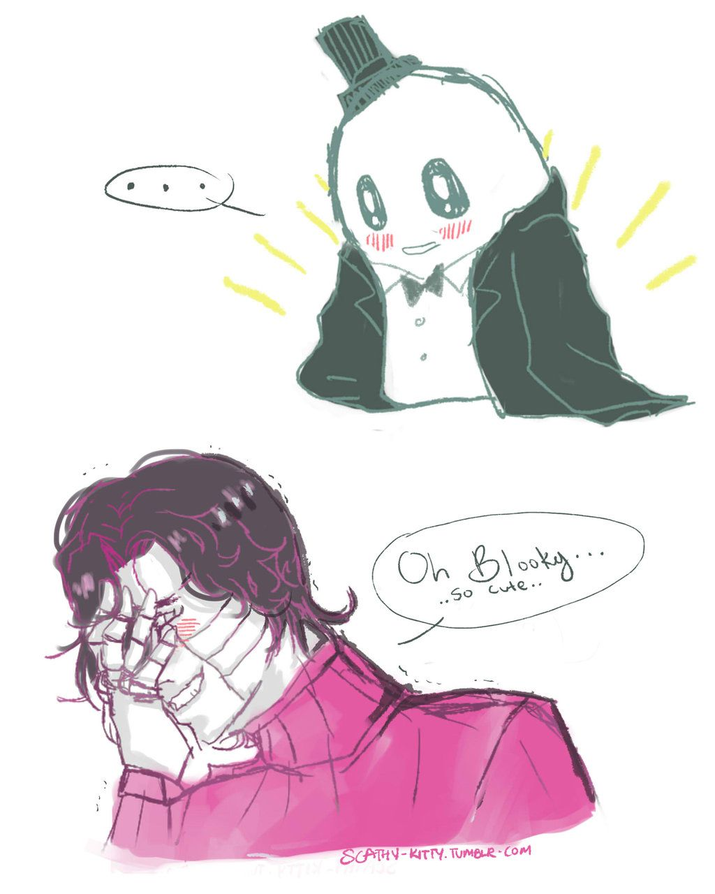 Napstablook And Mettaton Ex Artist Scathy Kitty Undertale