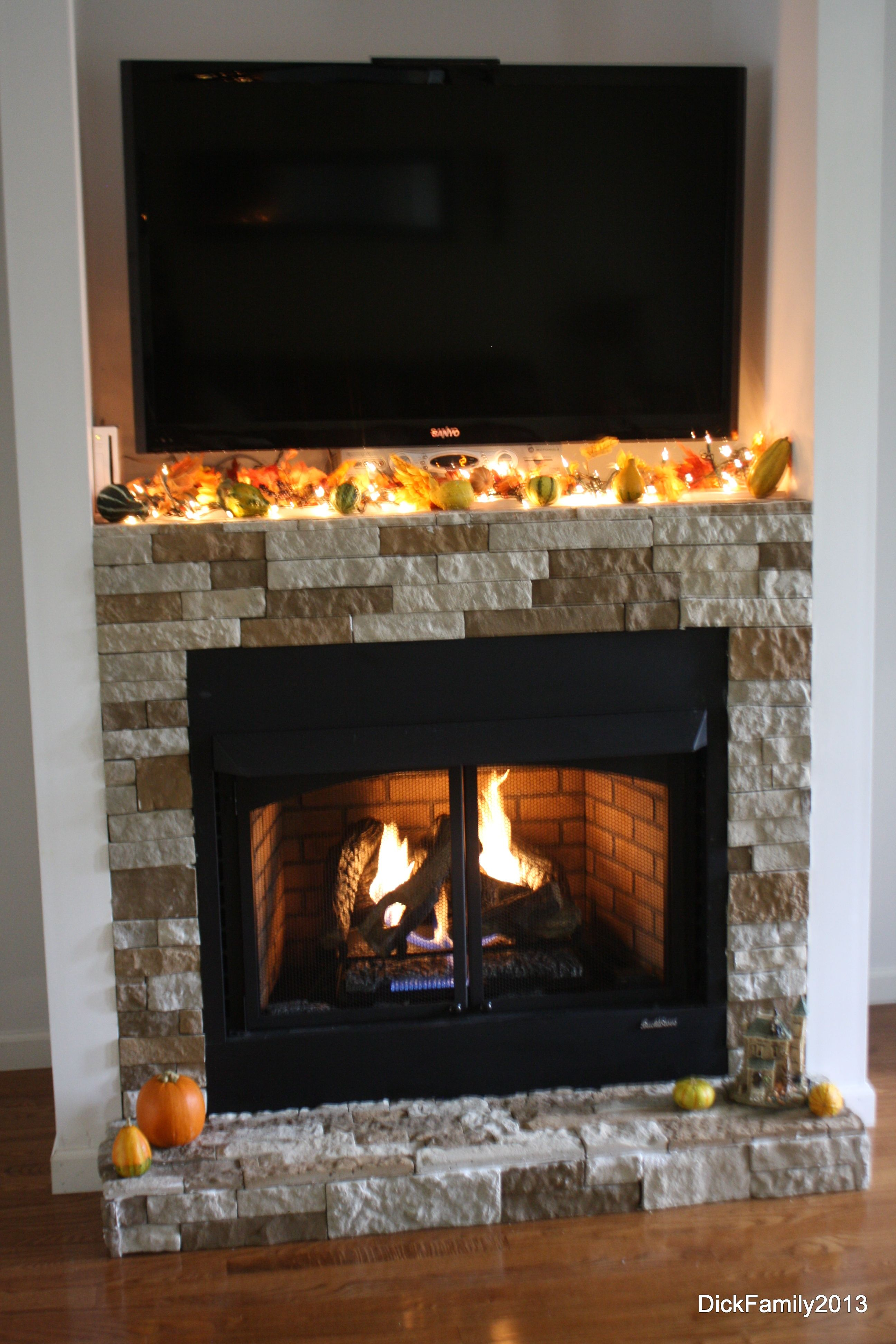 Our Fireplace Was Built By My Husband Our Stone Is Called Air