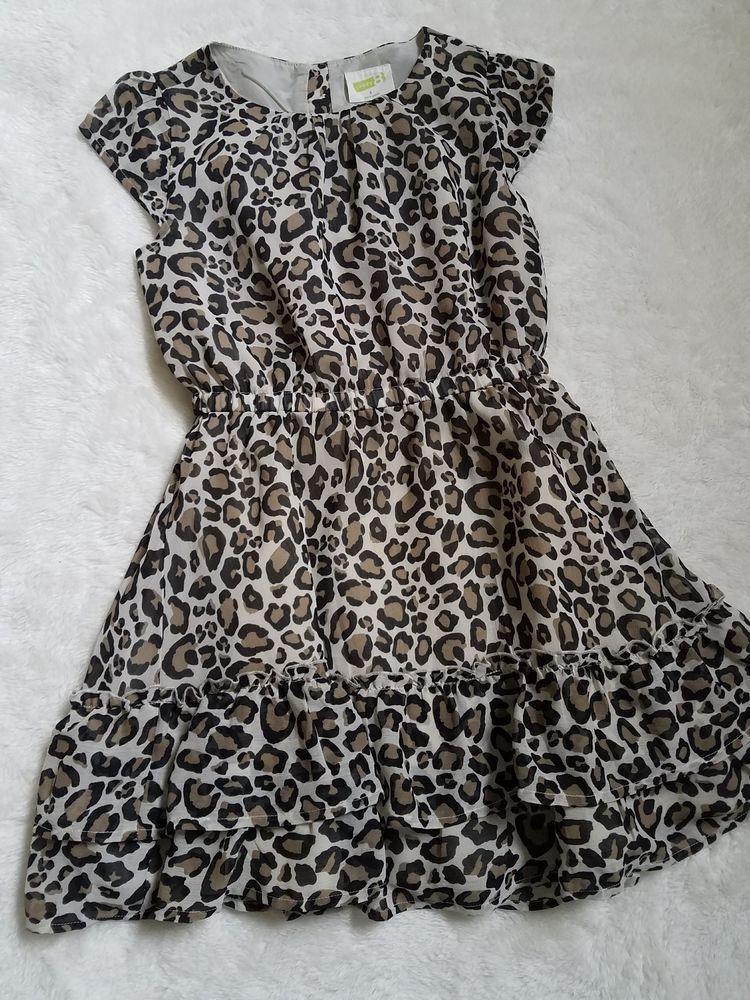 3c52f075710 Crazy 8 Girls Leopard Print Dress With RuffledBottomEUC Size 8 ...
