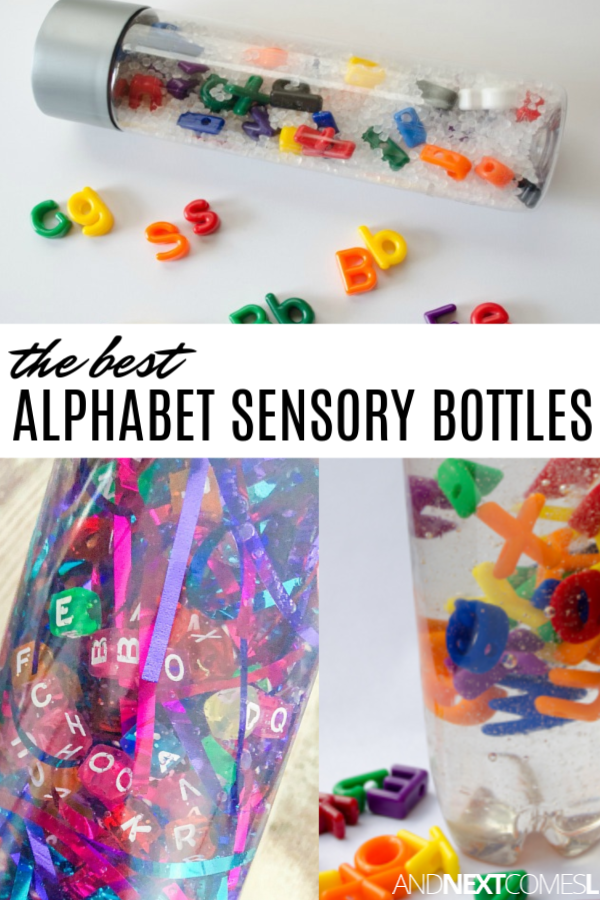 10 Calming Alphabet Sensory Bottles that are Perfect for Kids with Hyperlexia #sensorybottles