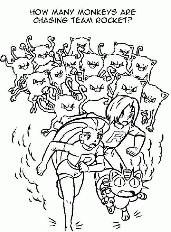 Kleurplaat Team Rocket Op De Vlucht Pokemonkleurplaten Http Www