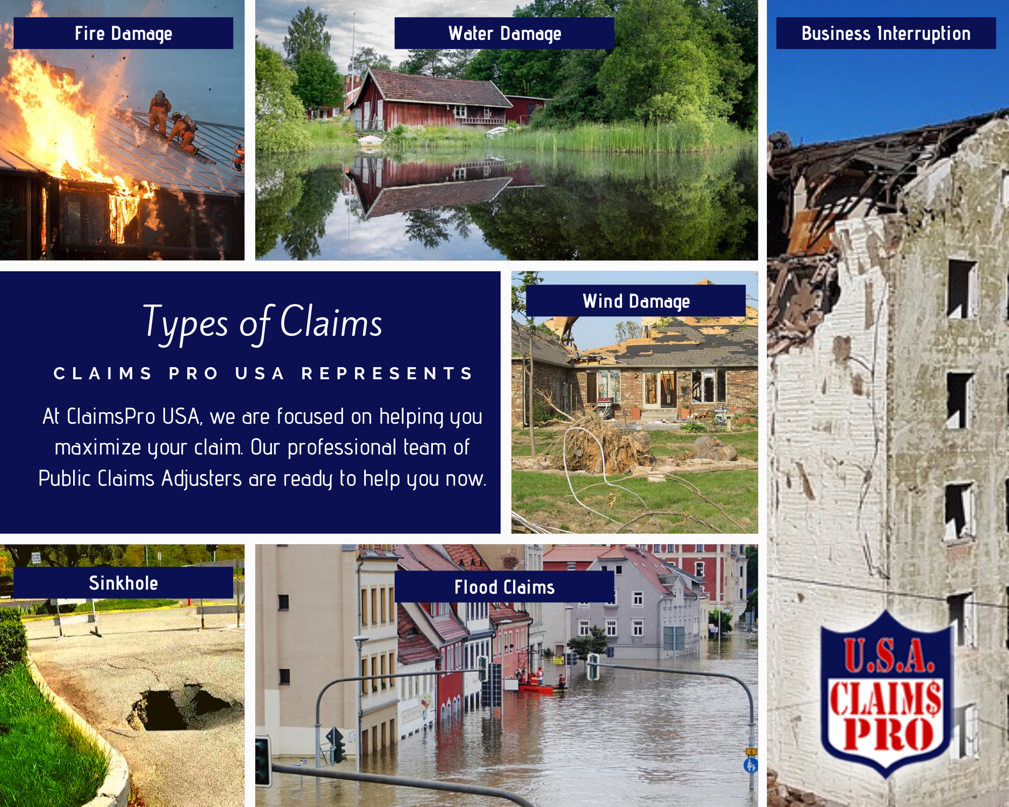 Types of Property Damage Insurance Claims by Claims Pro