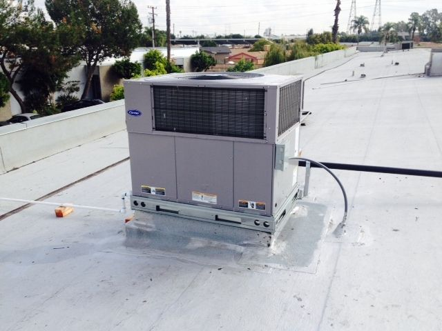 Carrier Package Unit Rooftop Installation