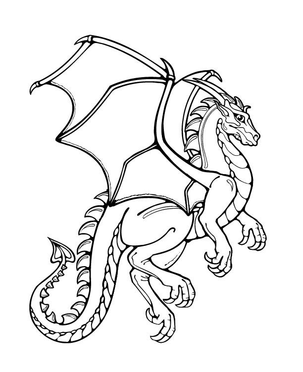 cartoon dragon coloring pages - photo#21