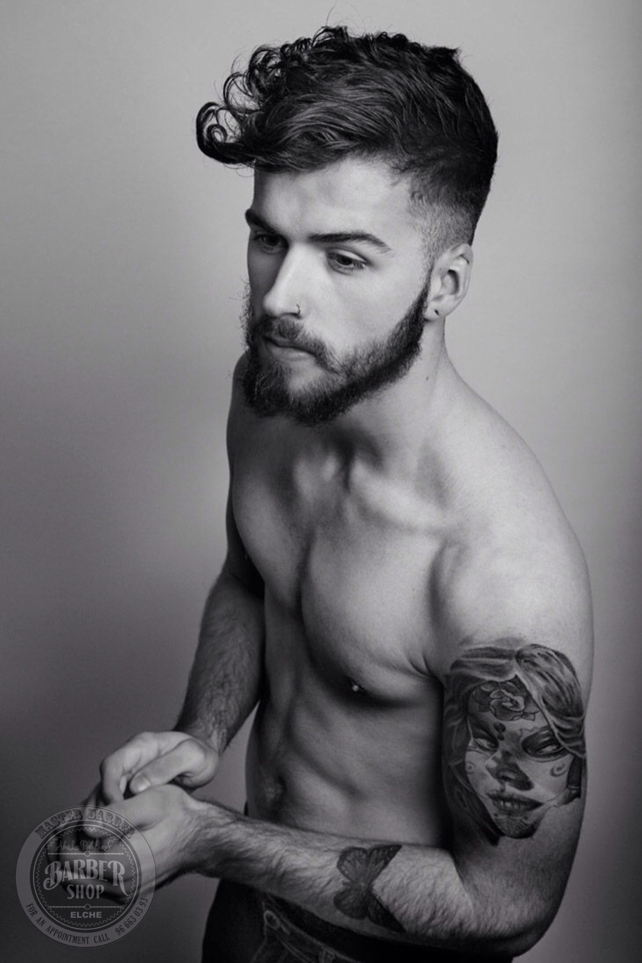Boy haircuts drawing nice u clean low cut line with defined texture through the long top
