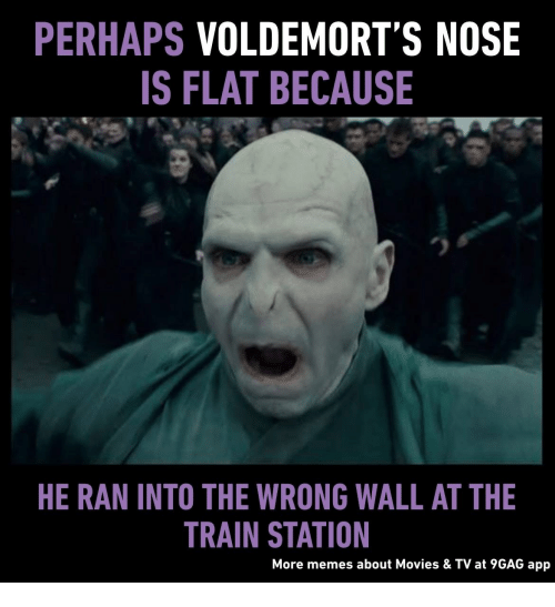 Image Result For Harry Potter Voldemort Nose Meme Ha Cuitan Dokter