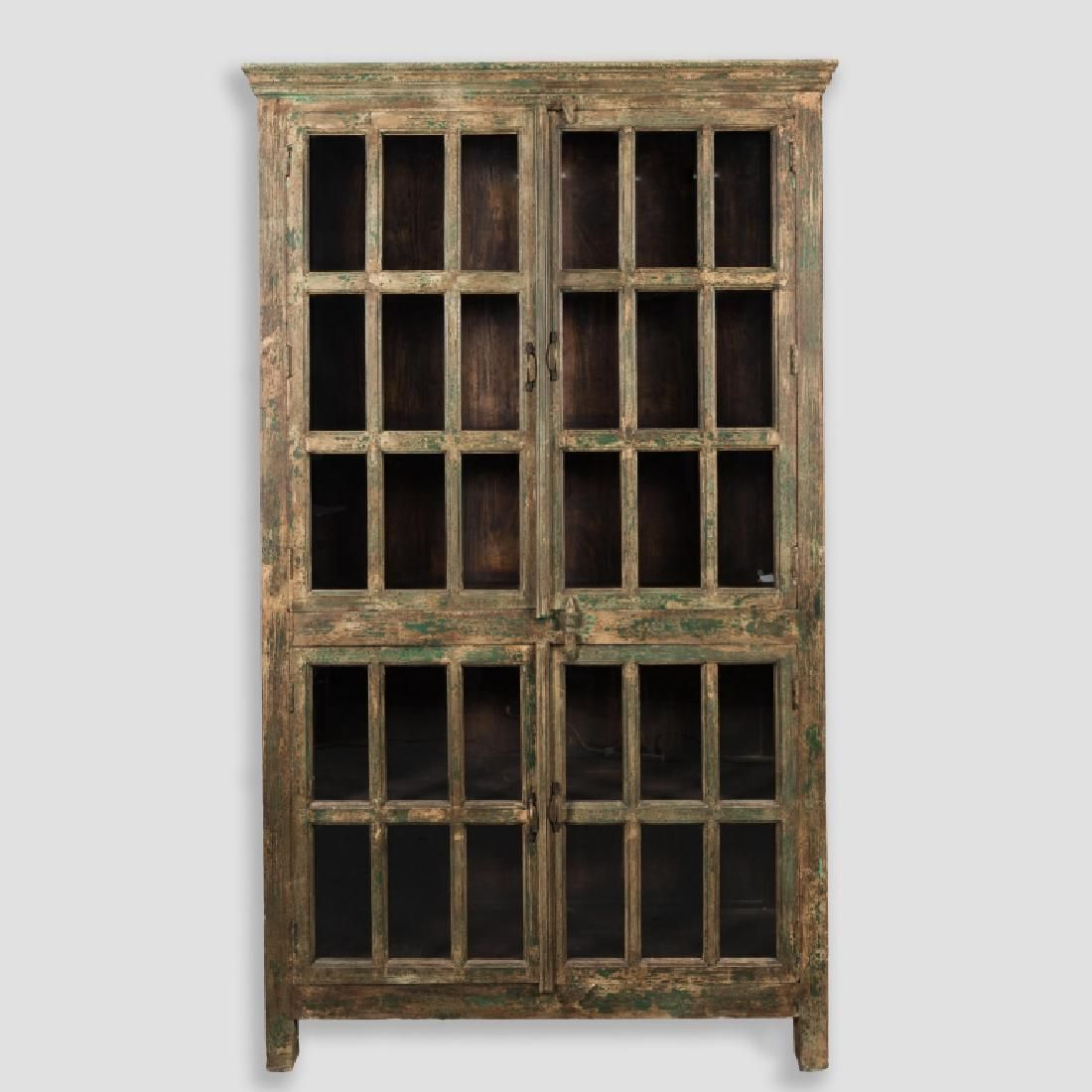 Primitive Style Painted Kitchen Cupboard