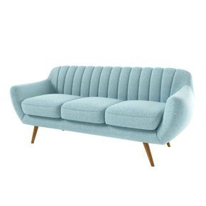Canapé design bleu 3 places Tudor ATYLIA