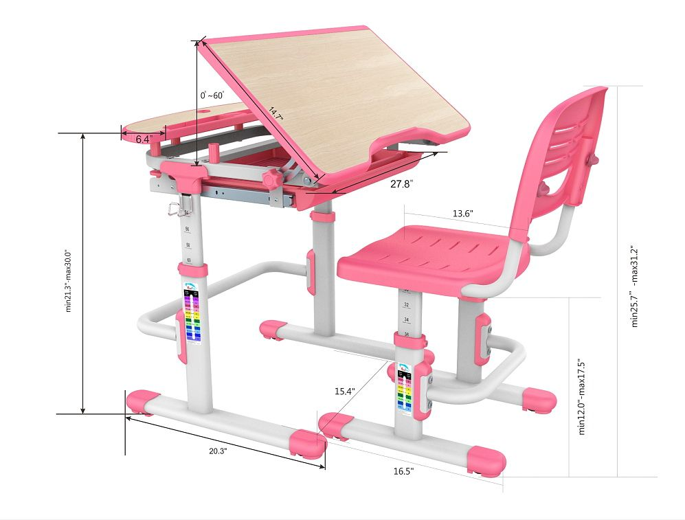 Pleasant Pink Children Furniture Desk Chair Kids Posture Ergonomics Gmtry Best Dining Table And Chair Ideas Images Gmtryco