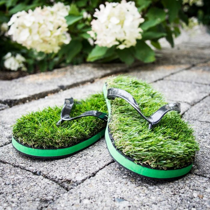 Ausgefallene Geschenke Ideen Frauen Gras Flops