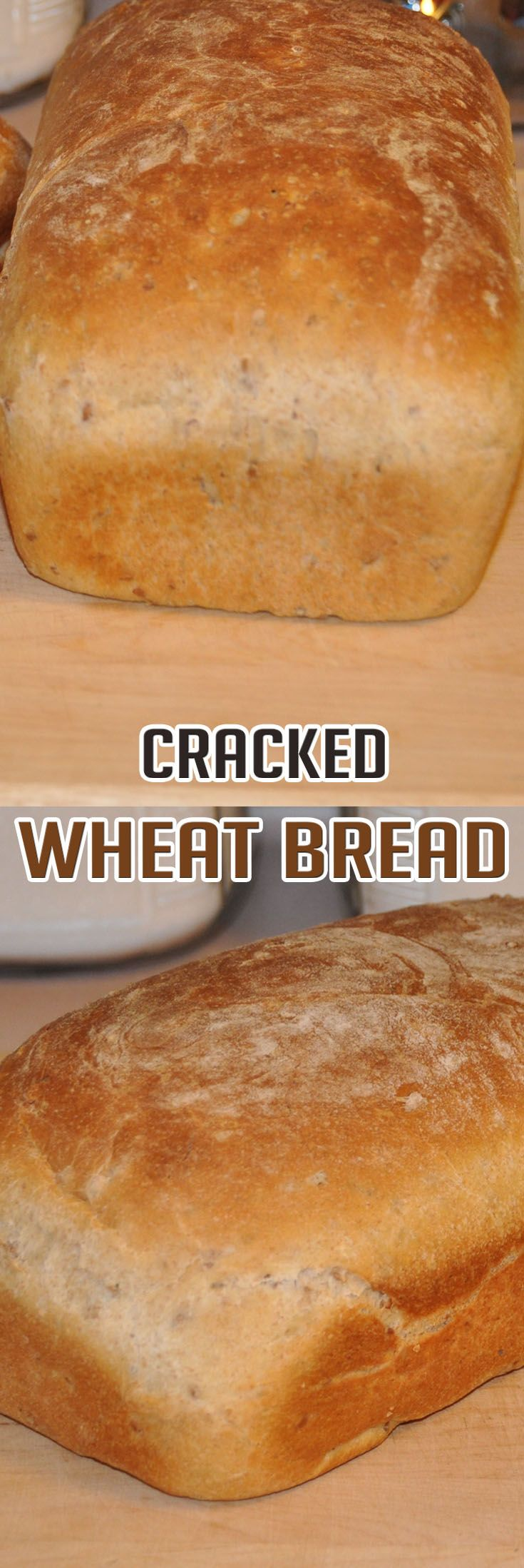 Easy Cracked Wheat Bread Wheat Recipes Wheat Bread Wheat Bread Recipe