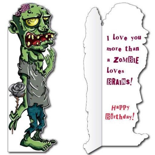 5 8 Zombie Birthday Card W Envelope Life Size Greeting Card Zombie Birthday Zombie Cards Birthday Cards