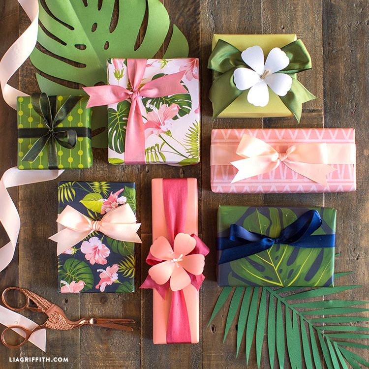 Tropical Rainforest Theme Perfect for Holiday,Birthday,Congrats 50CM X70CM RUSPEPA Gift Wrapping Paper Sheets Party Baby Shower Gifts- 4 Folded Sheets