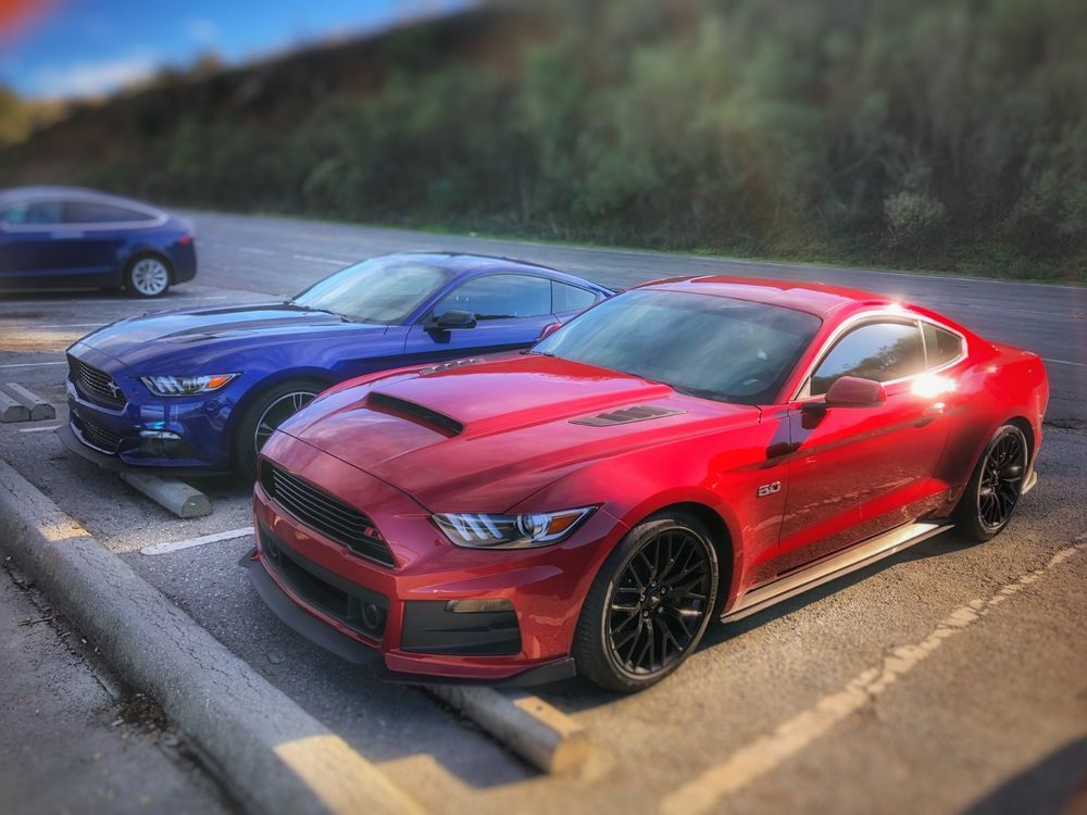 Ebay 2017 Ford Mustang Performance Package Beautiful Ruby Red Gt With Modifications
