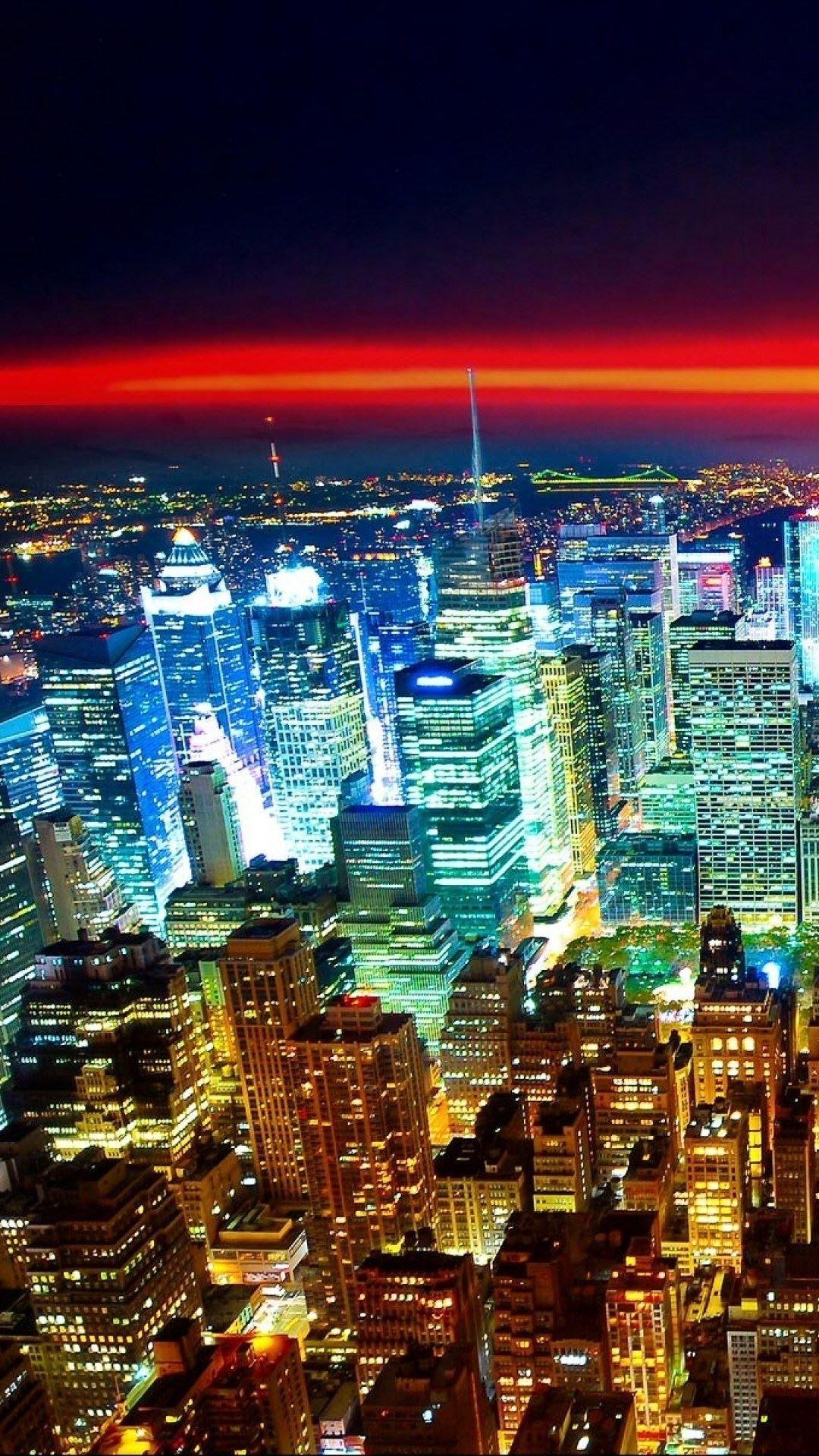 New York City Manhattan City Sunrise Empire State Building