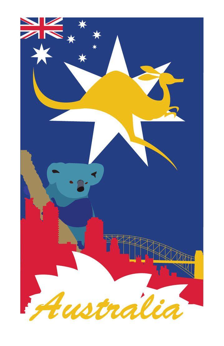 16x24 Qantas Empire Airways Australia 1930s Vintage Style Travel Poster