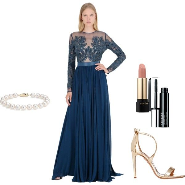 A fashion look from July 2015 featuring Elie Saab gowns, Aquazzura sandals and Blue Nile bracelets. Browse and shop related looks.