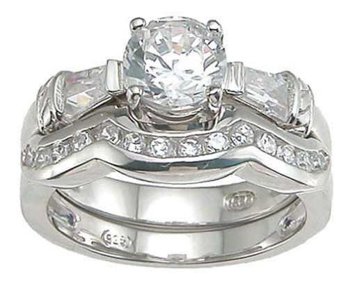 Unique Cz Engagement Ring Wedding Set For Women Cz Wedding Ring Sets Engagement Ring Settings Cz Wedding Rings