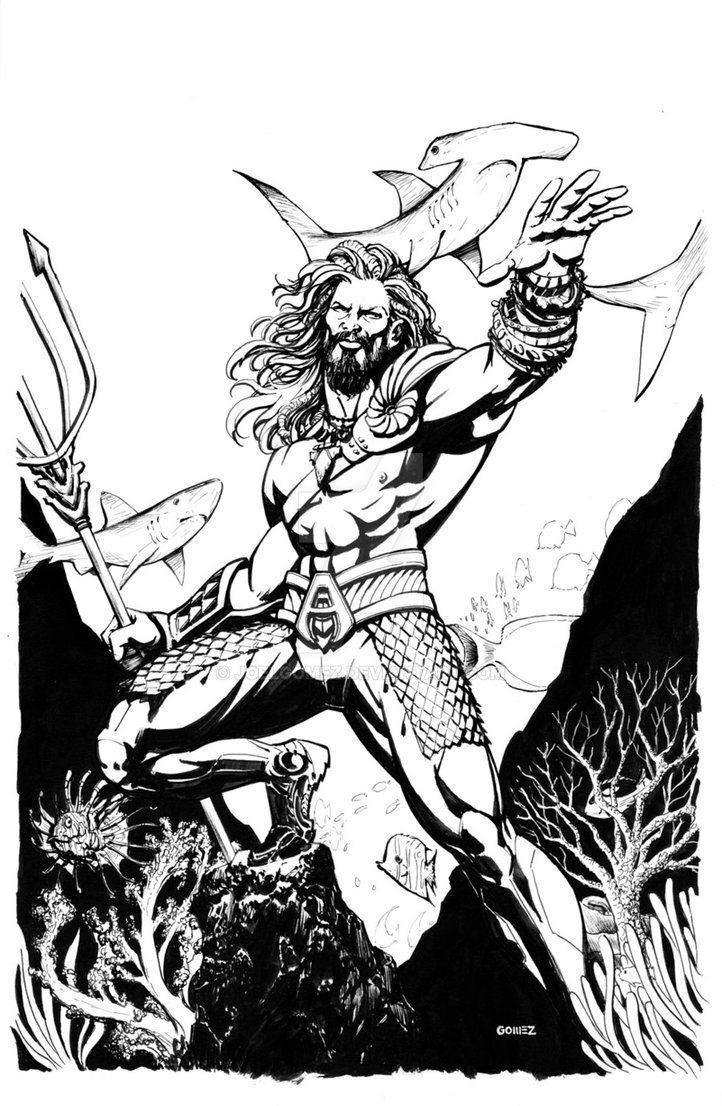 Bvs Aquaman Commission By Joelgomez Desenhos Desenho Colorir