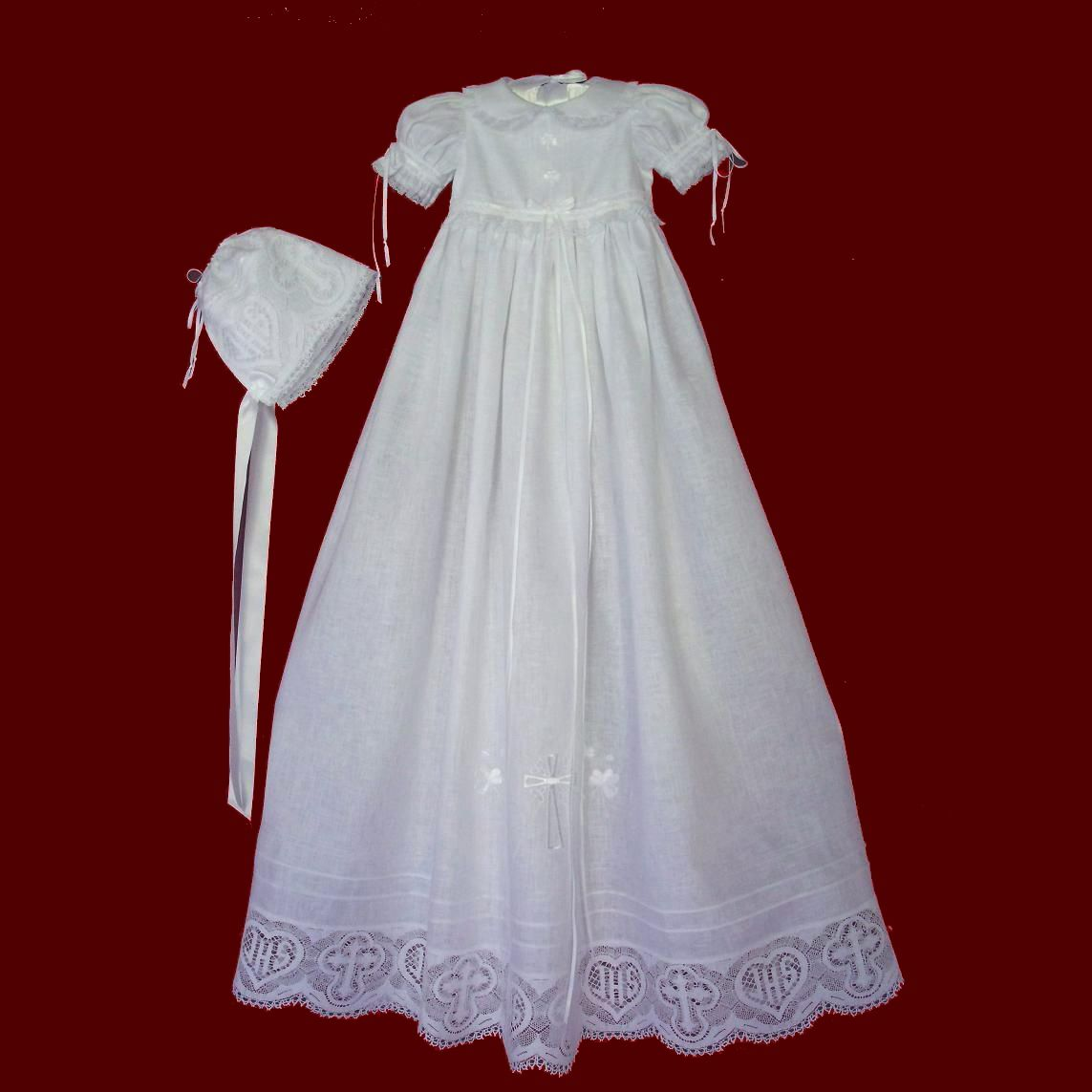 Irish Girls Christening Gowns - Smocked Treasures | Baptismal gown ...