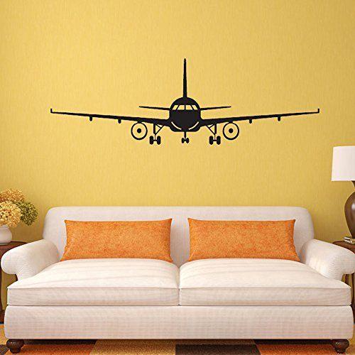 COFFLED Vinyl Wall Decal Stickers Handsome Plane,Environmental Easy ...