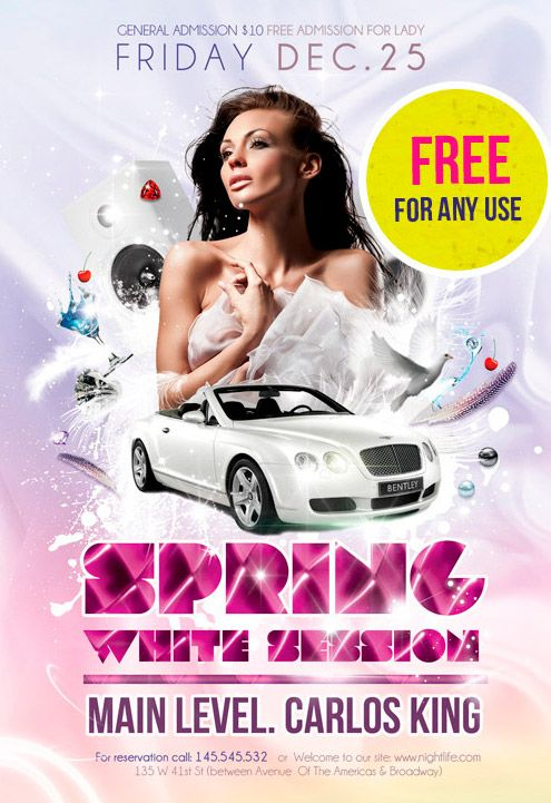 Spring white session free party flyer and poster psd template http spring white session free party flyer and poster psd template httpwww saigontimesfo