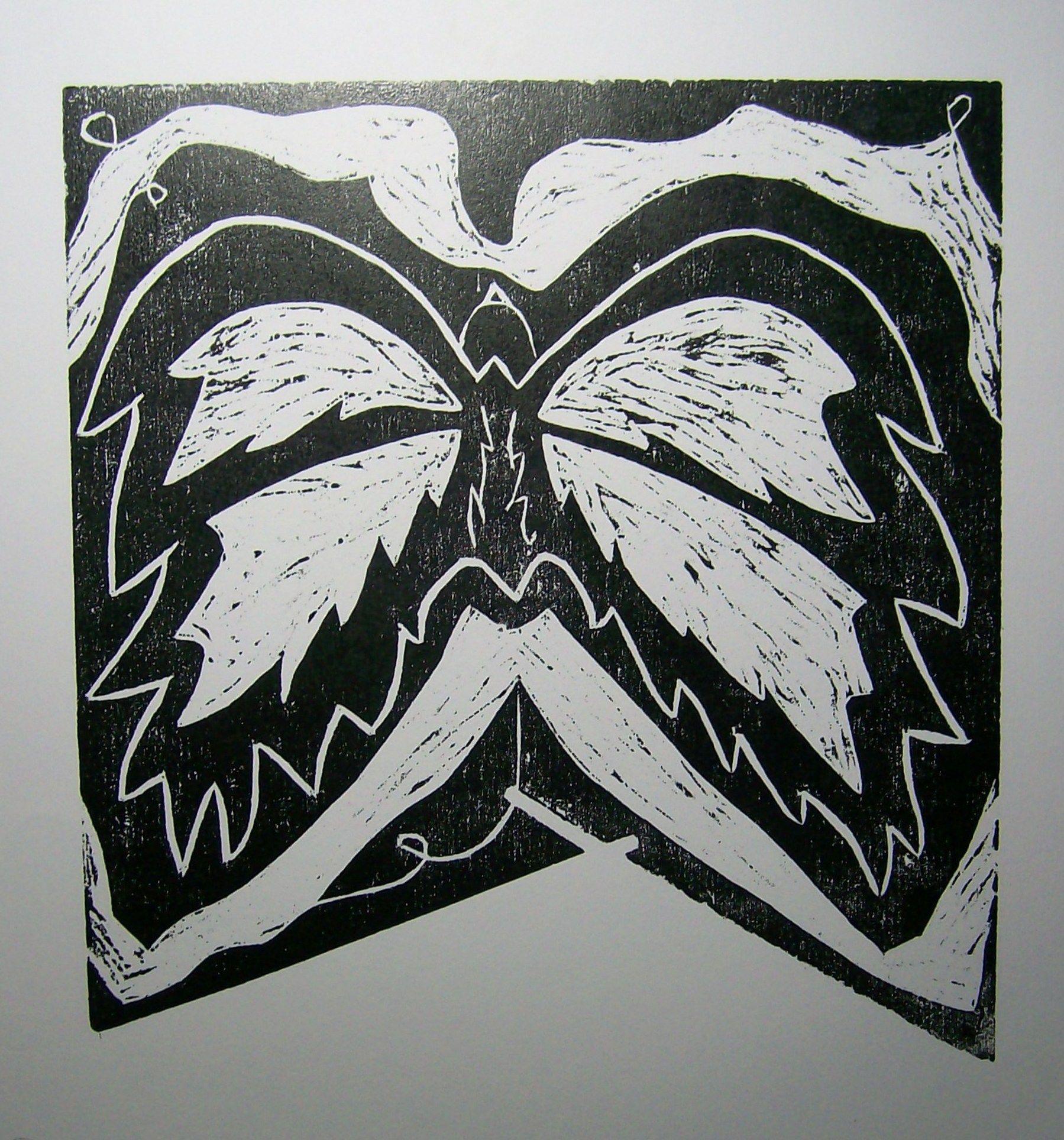 Grabado en tinta negra