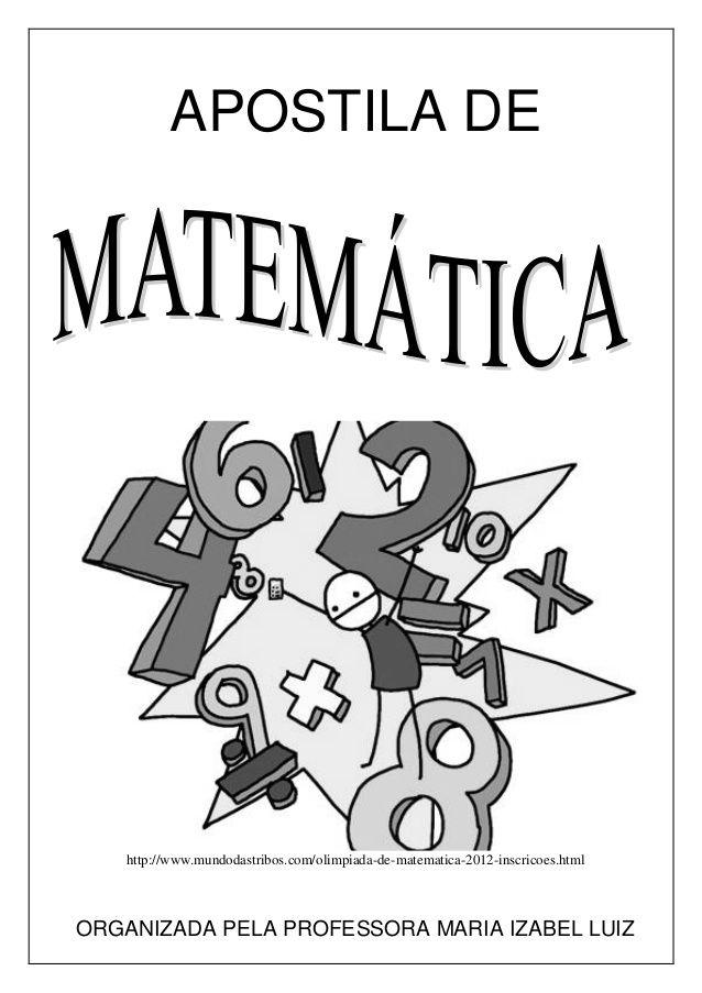 Apostila Matematica Em Pdf Olimpiada De Matematica Matematica