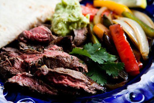 Beef Steak Fajitas Recipe | SimplyRecipes.com