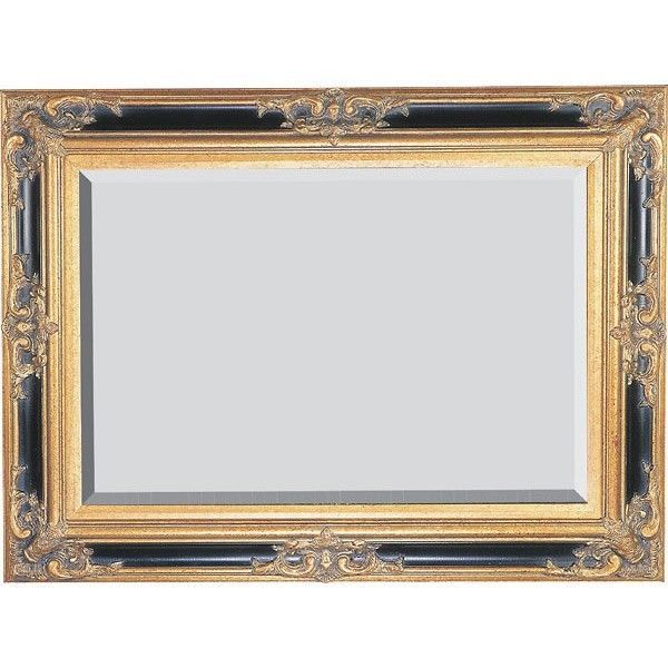 Victorian Mirror Large 7 Black W Gold By Hand Bevel Gl New Free Shipping