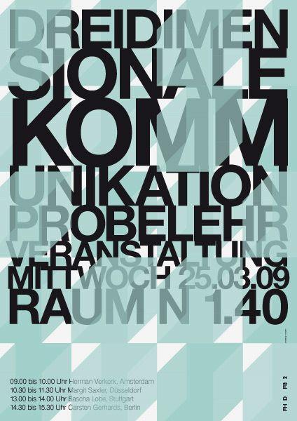 Plakat | Typographic poster