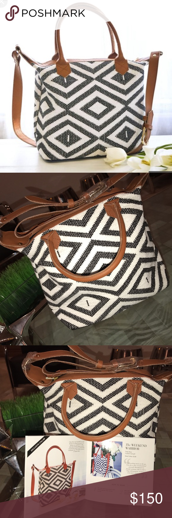 NEW! Tribe Alive custom carryall bag! NEW! Tribe Alive custom carryall bag! As seen in Rachael Zoe style box! Completely new! Never before used! Will not find better deal than this! Tribe Alive Bags