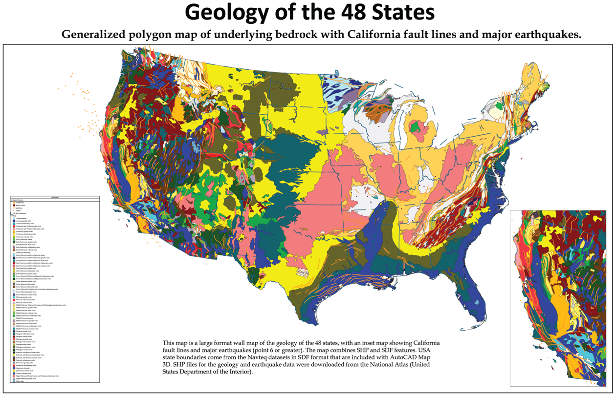 United States Geological Fault Line Maps on earthquake fault lines
