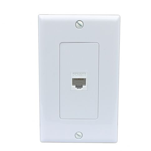 Easy Installation Rj45 Wall Plate Cat5e White Plates On Wall Wall Plates