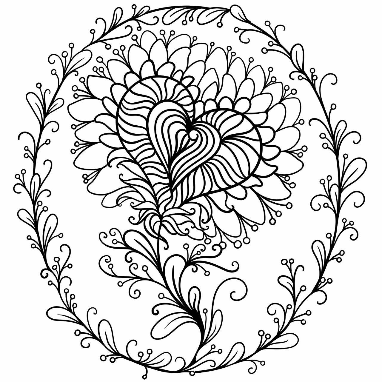 Raskraska Volshebnyj Cvetok Beautiful Magic Flower Coloring Page In 2020 Coloring Books Color Plates