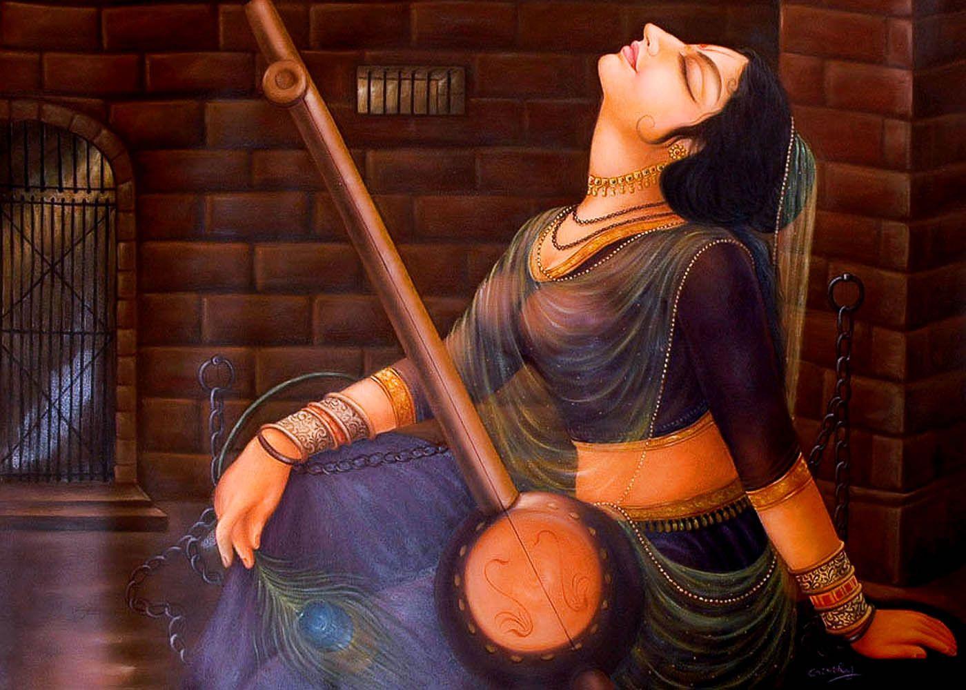 Meerabai Google Search Yogini Krishna Art Indian Paintings