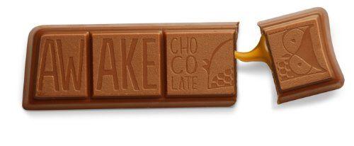 awake caffeinated chocolate/caramel bar 24pk  geek stuff