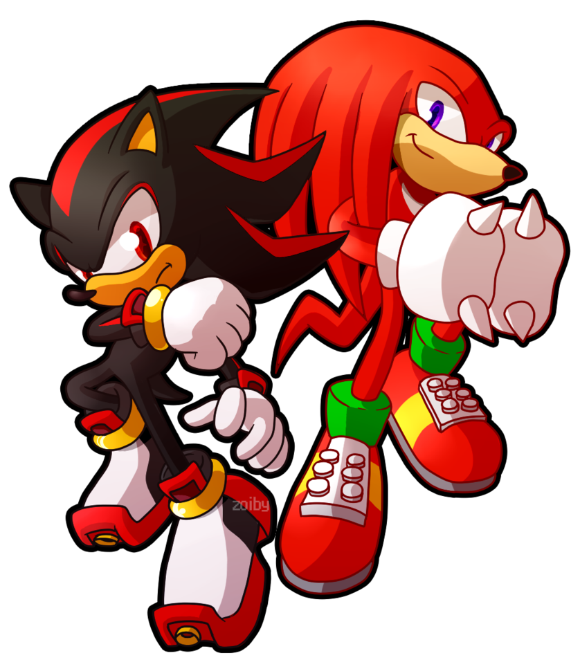 Sprite Redraw Shadow And Knuckles Sonic Heroes Sonic Fan Art Sonic Art
