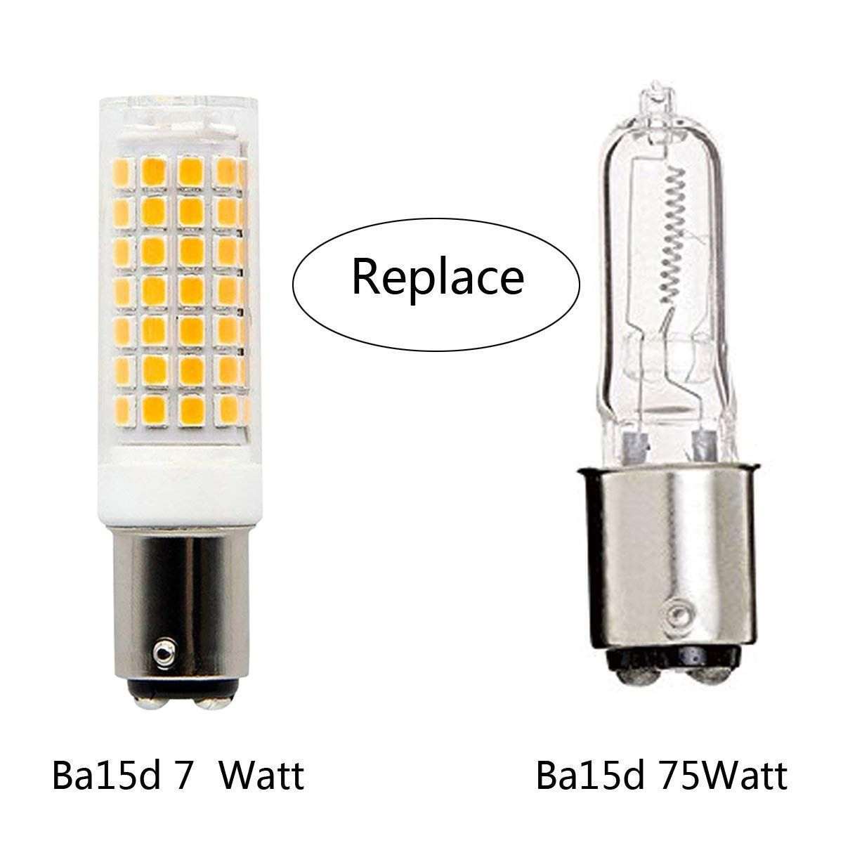 Ba15d Led Light Bulb Dimmable 7w 75w100w Halogen Bulbs Replacement Double Contact Bayonet Base 110v 120v 130v Input War In 2020 Halogen Bulbs Led Light Bulb Light Bulb