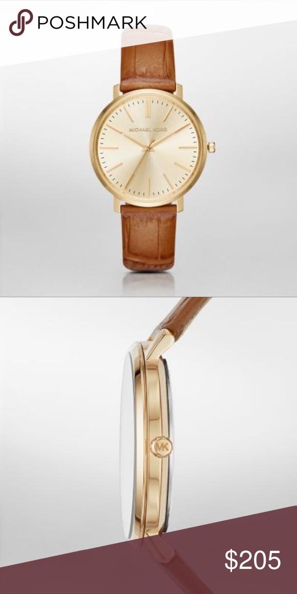 7a1996d3dedf Michael Kors Jaryn Brown Leather Watch MK2496 MK2496 Michael Kors  Accessories Watches