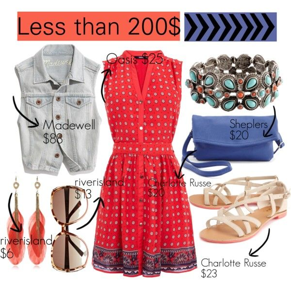 """""""Less than 200$"""" by majomendoza on Polyvore"""