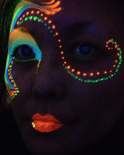 uv neon day glow face painting...i NEED this!i love LUMO ...