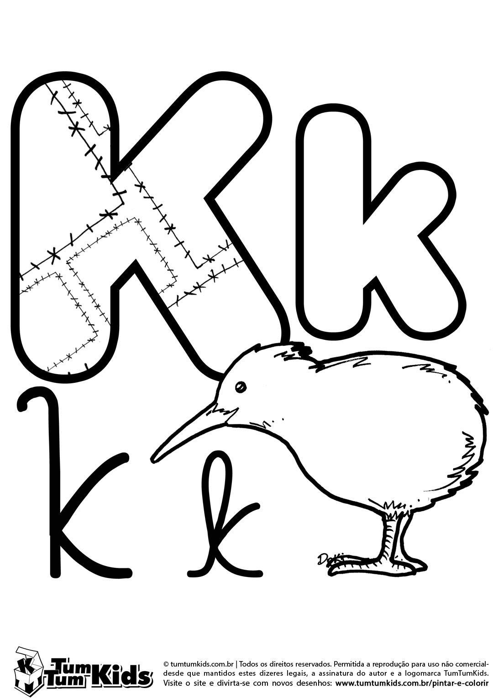 doki-alfabeto-letra-k-imprimir … | Alfabeto | Pinte…